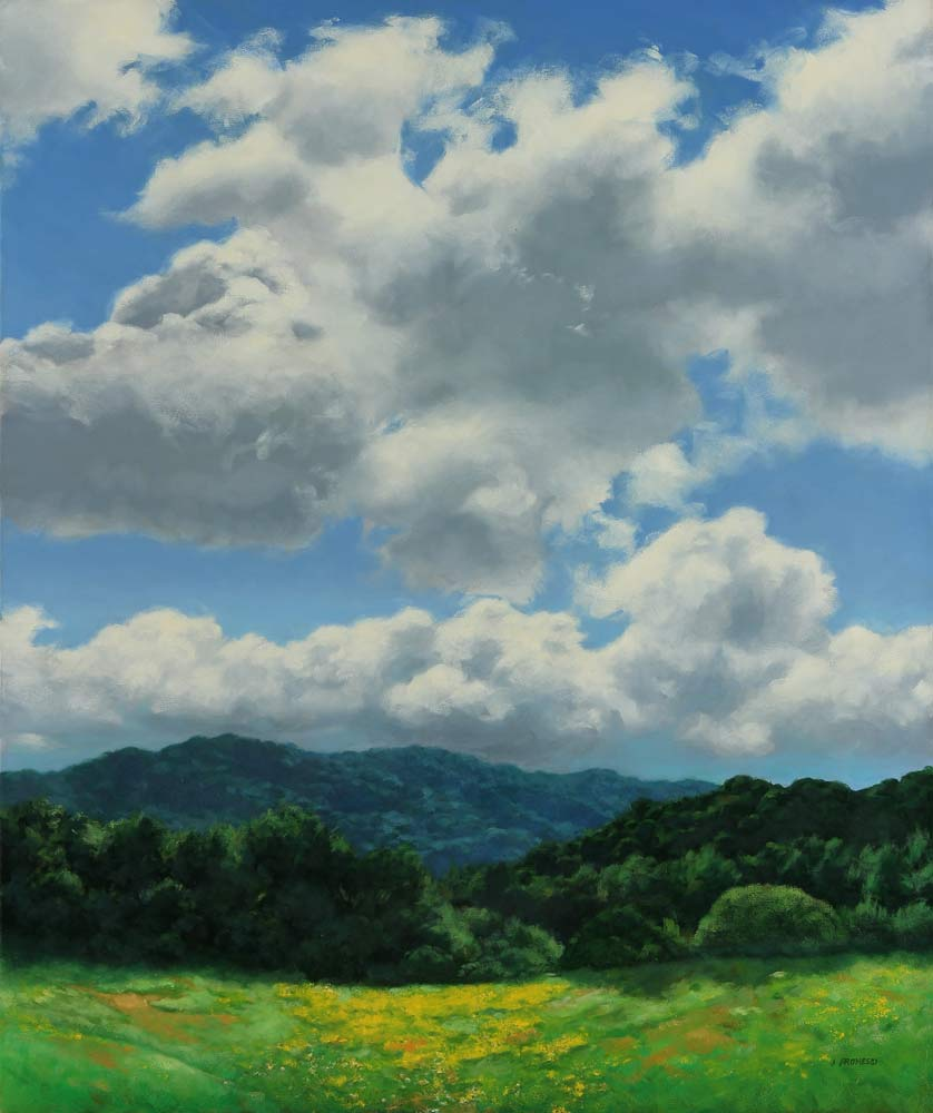 Cloud Filled Sky, landscape painting by Promessi