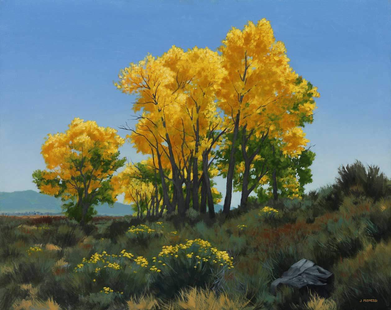 Cottonwoods Nevada, landscape by Promessi