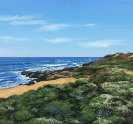 Just Above the Beach, oil painting by Jim Promessi