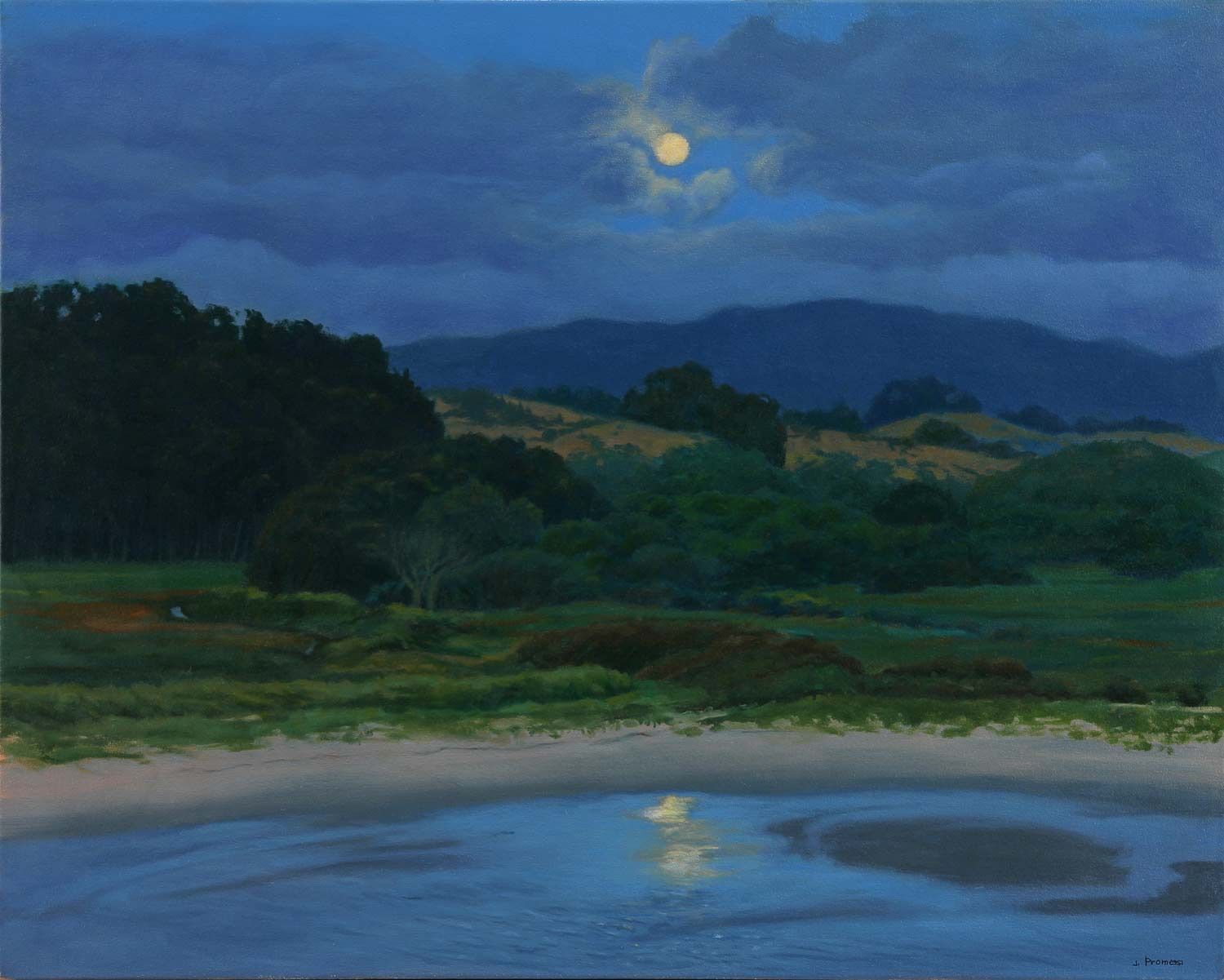 Pescadero Marsh Nature Preserve, painting by Promessi
