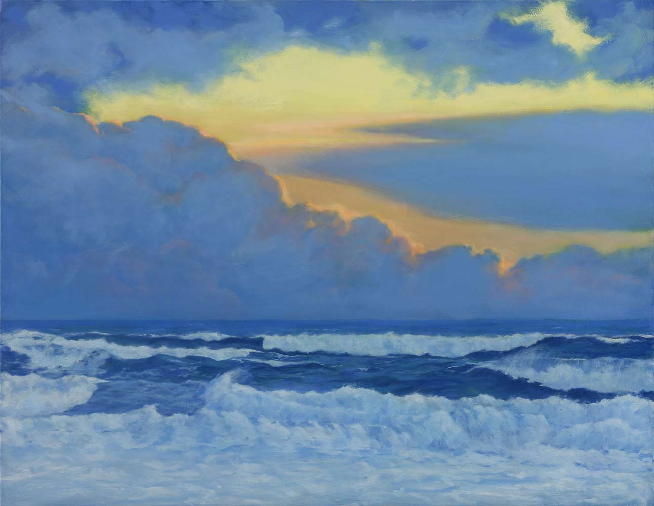 """Pescadero Sunset, oil painting by Jim Promessi, 24 x 30"""""""