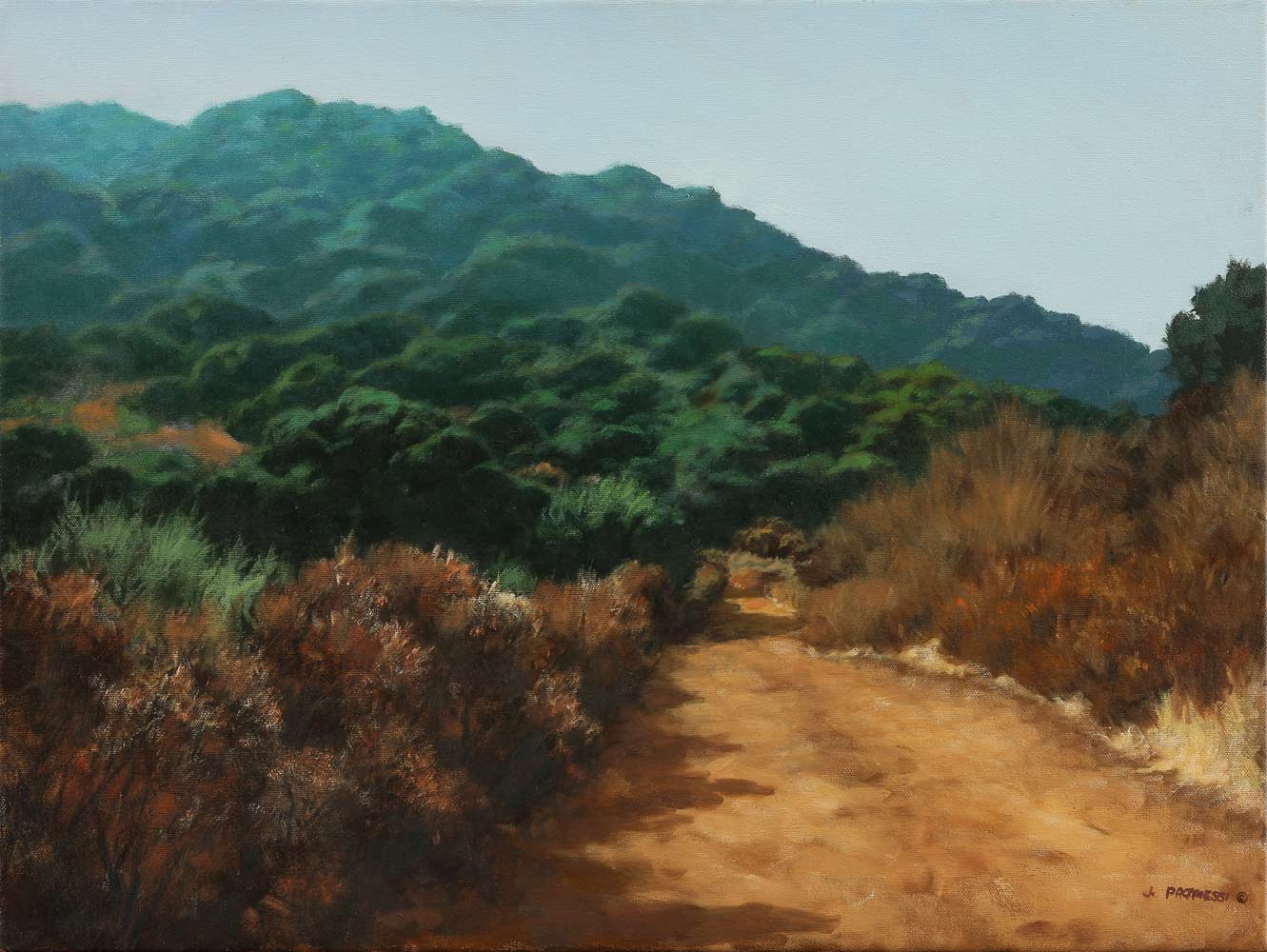 PG & E Trail, oil painting by Jim Promessi, 18 x 26""