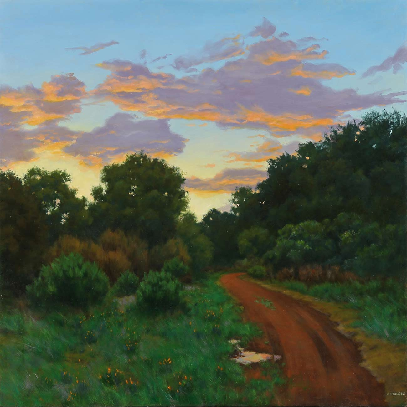 Rogue Valley Trail, oil painting by Jim Promessi, 30 x 30""