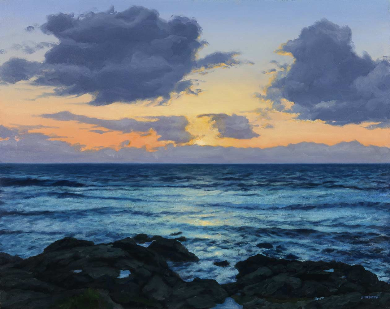 """Twilight Shimmer, oil painting by Jim Promessi, 24 x 30"""""""