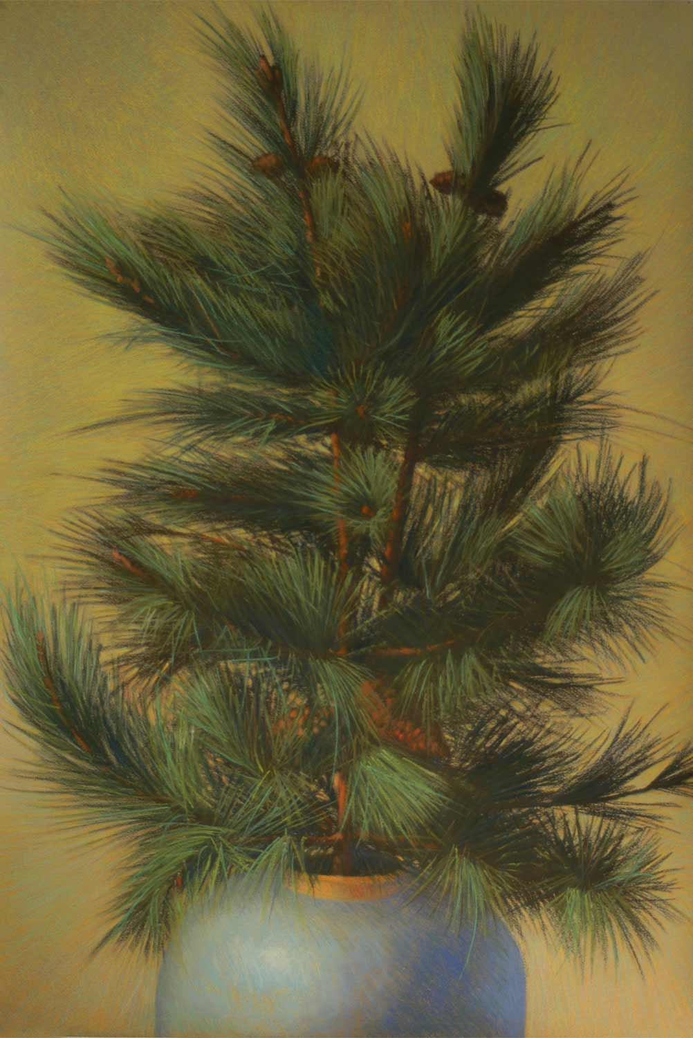 Pineboughs, pastel by Jim Promessi, 35 x 23