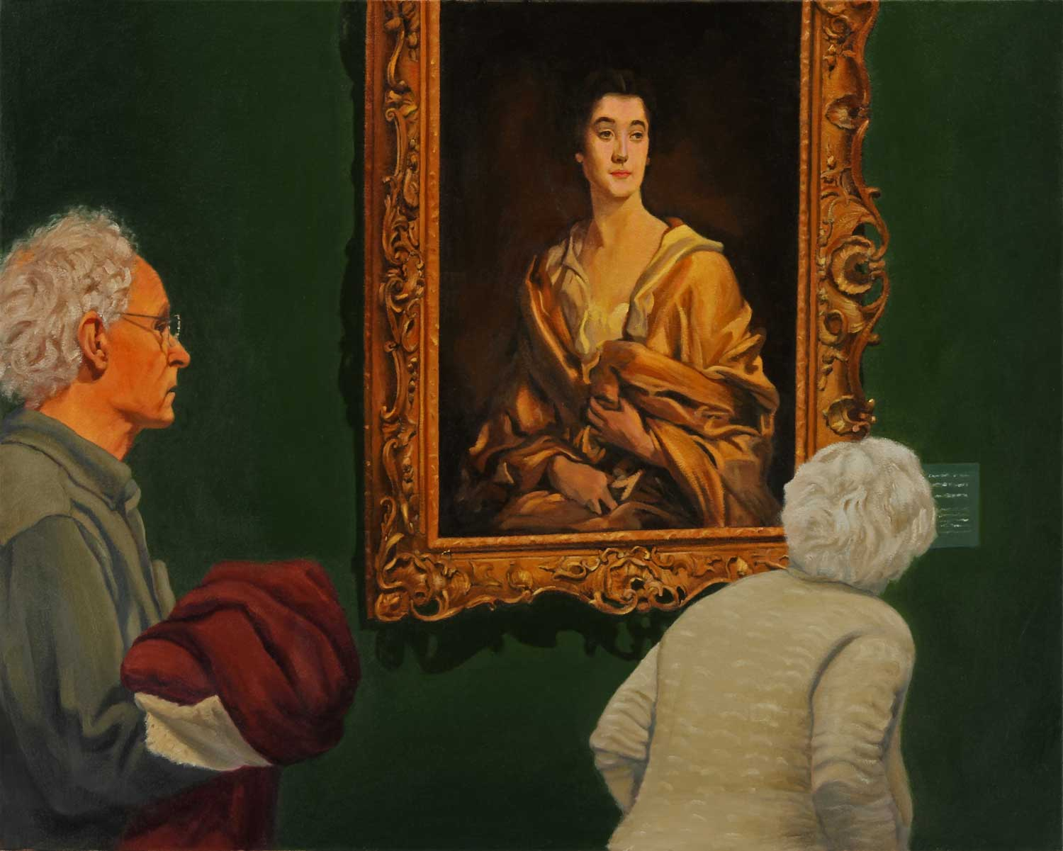 Viewing a Sargent, oil by Jim Promessi