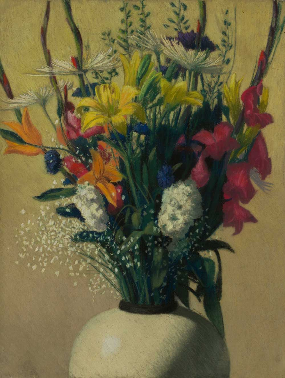 Mixed Bouquet 22x28, pastel by Promessi