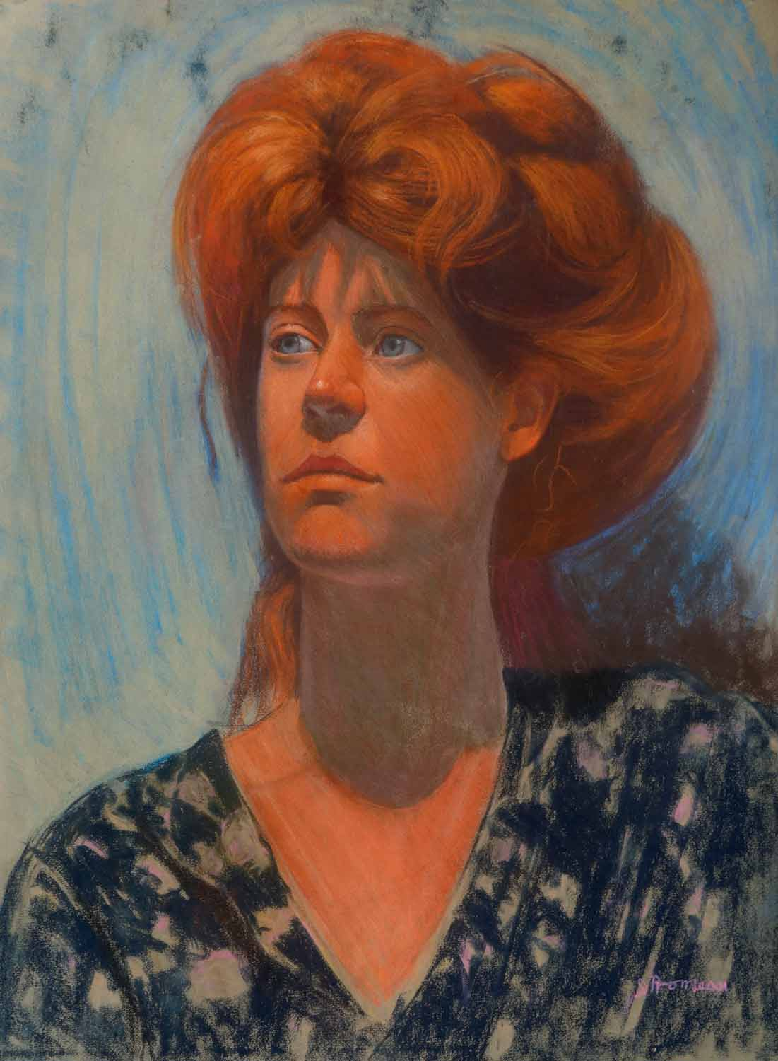 Red Head, 23 x 29, Pastel on paper