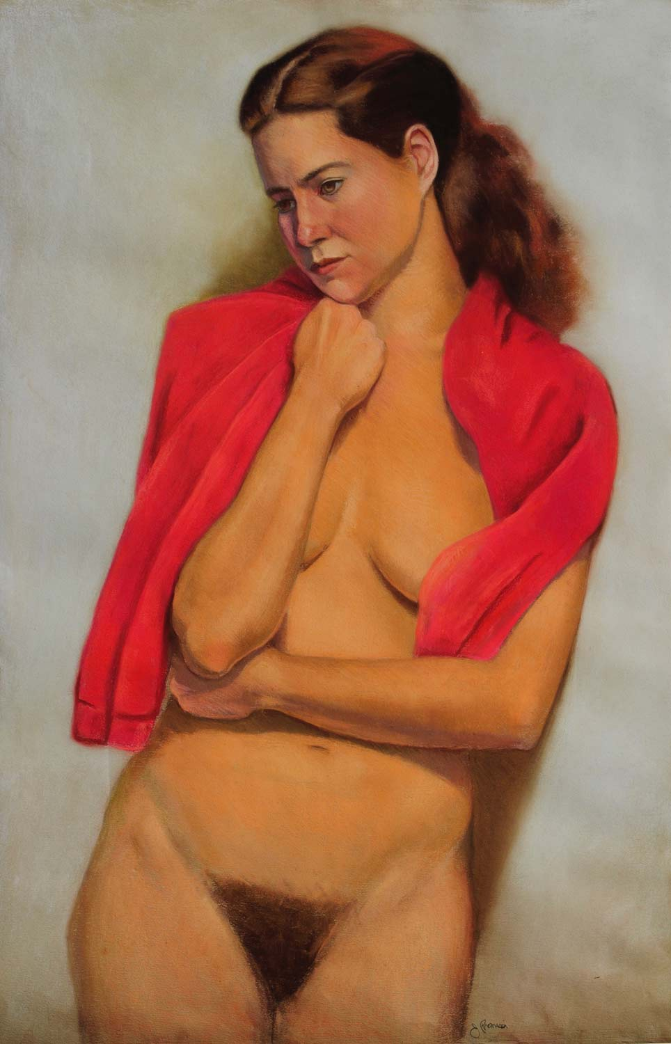 Standing Nude, 36 x 24, Pastel on paper