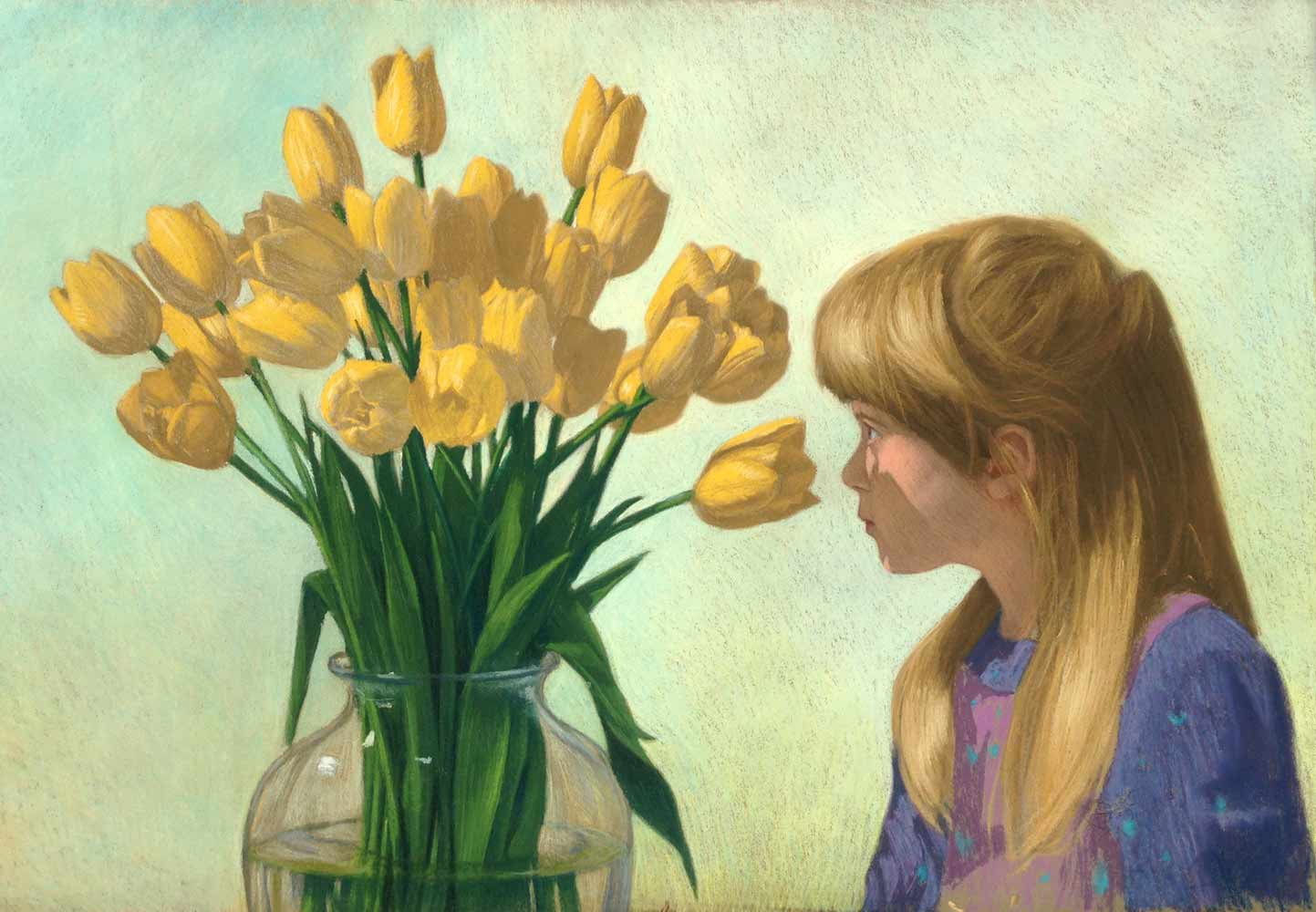 Tulip Fascination, 24 x 34, Pastel on paper